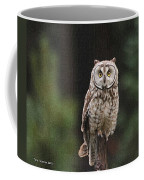 Owl In The Forest Visits Coffee Mug