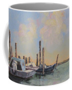 Oyster Boat Evening Coffee Mug by Susan Richardson