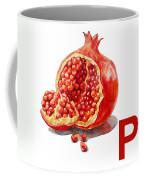 P Art Alphabet For Kids Room Coffee Mug by Irina Sztukowski