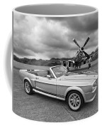 P51 Meets Eleanor In Black And White Coffee Mug