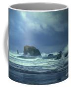 Pacific Storm Bandon Beach Oregon Coffee Mug
