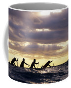 Paddlers Silhouetted Coffee Mug