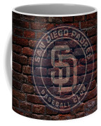 Padres Baseball Graffiti On Brick  Coffee Mug by Movie Poster Prints