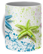 Paint Spattered Star Fish Coffee Mug
