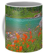 Paintbrush By Bow River In Banff Np-ab Coffee Mug