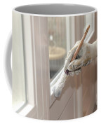 Paintbrush With White Paint In Hand Coffee Mug