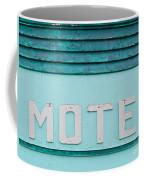 Painted Blue-green Historic Motel Facade Siding Coffee Mug
