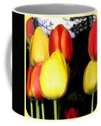 Painted Country Tulips Coffee Mug