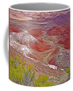 Painted Desert From Rim Trail In Petrified Forest National Park-arizona Coffee Mug