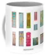 Painted Doors And Window Panes Coffee Mug