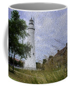 Painted Fort Gratiot Light House Coffee Mug