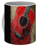 Painted Guitar - Music - Red Coffee Mug