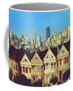 Alamo Square San Francisco - Digital Art Coffee Mug