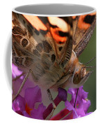 Painted Lady On Butterfly Bush Coffee Mug by William Selander