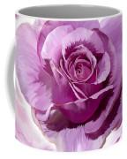 Painted Purple Rose  Coffee Mug