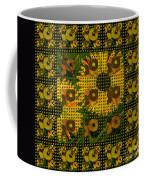 Painted Sunflower Abstract Coffee Mug