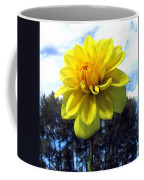 Painted Yellow Dahlia Coffee Mug