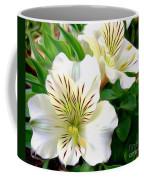 Painterly Alstroemeria Coffee Mug by Kaye Menner