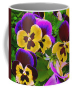 Painterly Purple Pansy Coffee Mug
