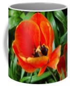 Painterly Red Tulips Coffee Mug