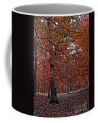 Painterly Style Autumn Trees Coffee Mug