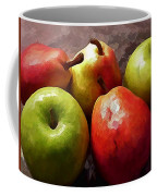 Painting Of Apples And Pears Coffee Mug