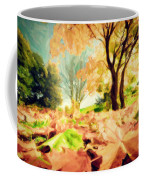 Painting Of Autumn Fall Landscape In Park Coffee Mug