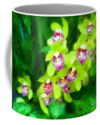 Painting Of Green Orchids Coffee Mug