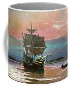 Painting Of The Ship The Mayflower 1620 Coffee Mug