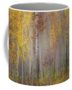 Painting Of Trees In A Forest In Autumn Coffee Mug