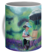 Painting The Lavender Fields Coffee Mug