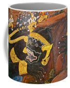 Paintings On Wall Of Middle Court Hall Of Grand Palace Of Thailand Coffee Mug