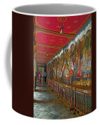 Paintings On Wall Of Middle Court Hallof Grand Palace Of Thailand Coffee Mug