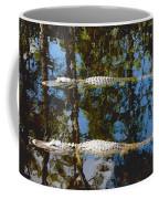 Pair Of American Alligators Coffee Mug