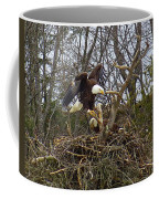 Pair Of Bald Eagles At Their Nest Coffee Mug