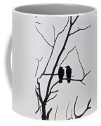 Pair Of Birds In Black Coffee Mug
