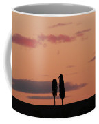 Pair Of Cypress Trees And Morning Sky In Tuscany Coffee Mug