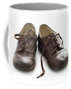 Pair Of Vintage Child Leather Shoes Coffee Mug