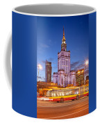 Palace Of Culture And Science In Warsaw At Dusk Coffee Mug by Artur Bogacki