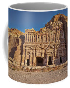 Palace Tombin Nabataean Ancient Town Petra Coffee Mug