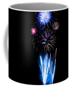 Pale Blue And Red Fireworks Coffee Mug