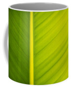 Palm Leaf Macro Abstract Coffee Mug by Adam Romanowicz