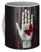 Palm Reading Hand And Butterfly Coffee Mug