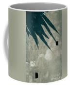Palm Tree Shadow On Wall With Holes Coffee Mug