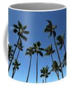 Palm Trees Against A Clear Blue Sky Coffee Mug