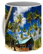 Palm Trees And Colorful Building Coffee Mug