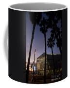Palm Trees And Hp Pavilion San Jose At Night Coffee Mug