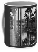 Palm Trees Bordering A Pool Coffee Mug