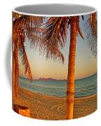 Palm Trees By A Restaurant On The Beach In Bahia Kino-sonora-mexico Coffee Mug