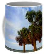 Palm Trees In The Wind Coffee Mug